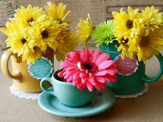 Tea cup decorations