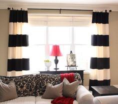 DIY Striped curtains Valance Curtains, Elegant Living Room, Living Room Ideas, Dekoration, Valence Curtains