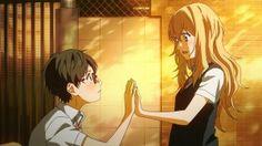 Shigatsu wa Kimi no Uso episode 07 your hand feels happy to be on mine