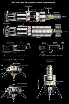 General Atomics Lunar Shuttle by wblack Bryce Science Fiction