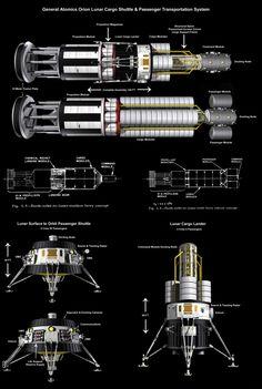 General Atomics Lunar Shuttle by wblack Bryce Science Fiction