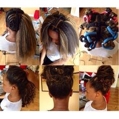 Crochet Hair Versatile : crochet braid pattern for updos more crochet braids hair styles black ...