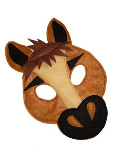 Children's HORSE Farm Animal Felt Mask by magicalattic on Etsy https://www.etsy.com/listing/151628174/childrens-horse-farm-animal-felt-mask