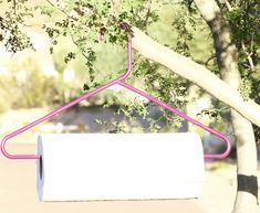 DIY Paper Towel Holder Hanger
