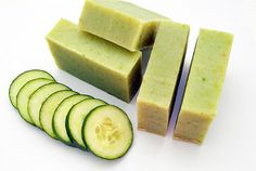 All natural soap, Cucumber Soap is handmade with natural ingredients and fresh cucumber puree. It makes soft foam and delicately cleanses the skin while maintaining skin's natural moisture balance. Suitable for both children and adults. Unscented Soap, Soap Shop, Vegan Soap, Natural Soaps, Natural Products, Natural Cosmetics, Handmade Soaps, Soap Making, Body Care
