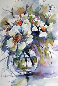 Still Life With White Flowers Painting