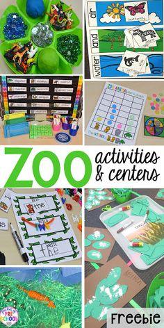 ZOO Theme! FREE desert art pattern plus all my go to ZOO themed activities (math, literacy, fine motor, science, sensory) for preschool, pre-k, and kindergarten