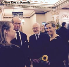 The Countess of Wessex attended a Gala performance of 'The Girls' Musical, at the Phoenix Theatre in London. HRH attended the event as a Member of Bagshot Women's Institute. Sophie was joined by The Duke of Kent, Patron of Bloodwise. The event was in aid of Bloodwise - charity that funds world-class research and offers expert information and support to anyone affected by leukaemia, lymphoma, myeloma and other blood cancer related disorders.