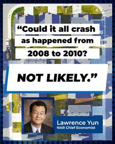 The housing shortfall is driving up prices, but a crash is unlikely, says NAR Chief Economist Lawrence Yun.