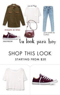 """""""tu look para hoy"""" by aliciagorostiza on Polyvore featuring moda, MANGO, Converse y Avenue"""