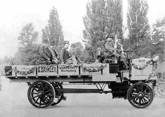 1898: Daimler five-tonner shown in Paris --- in At the Motor Show in Paris, Gottlieb Daimler and Wilhelm Maybach present a new truck model for 5-tonne payloads. The four-stroke engine is longitudinally mounted under a bonnet at the front end of the vehicle and power is transferred to the rear wheels via a geared manual transmission with propshaft and pinions.
