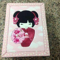 Caixa com patchwork embutido JAPONESINHA
