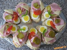 Czech Recipes, Ethnic Recipes, Appetizer Recipes, Appetizers, Party Buffet, Sushi, Brunch, Food And Drink, Cooking Recipes
