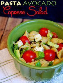The Scrap Shoppe: Pasta Avocado Caprese Salad