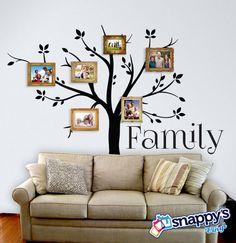 Family Tree Wall Decal Custom Vinyl Wall Decal by SnappysVinyl
