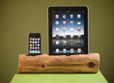 Eco Friendly Wooden iPhone Charging Station