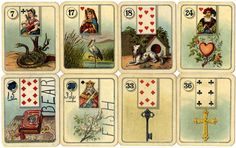 Carreras wide-sized Fortune Telling Cards with figure inserts, 1926 Deck Of Cards, Your Cards, Bingo Cards, Game Cards, Gypsy Fortune Teller, Fortune Telling Cards, Cartomancy, Halloween Images, Small Cards