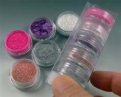"""Great assortment of powders fro use on polymer - chalk, mica, flakes and microglitter!   - SurfaceFX """"Fairy Tale"""""""