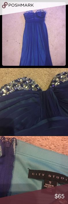 Empire Waist Prom Dress Beautiful blue empire waist prom gown. Brand new condition. Flattering on all body types. Matches many accessories and shoes. Make me an offer! Dresses Prom