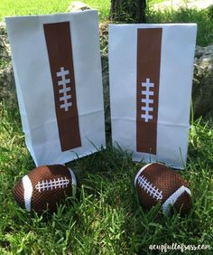 DIY football treat bags with free printable.