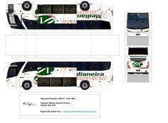 paper model lorry   SP. Papel Modelismo: PaperCraft Ônibus Marcopolo Paradiso 1200 G7 ...