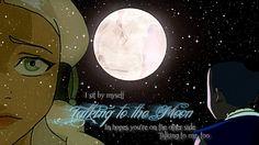 Sokka and Yue - Talking to the Moon by checkers007.deviantart.com on @deviantART