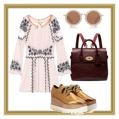"""""""Hipster dance party"""" by shahrzadamin on Polyvore featuring House of Holland, Mulberry, For Love & Lemons, STELLA McCARTNEY, Hipster and burningman"""