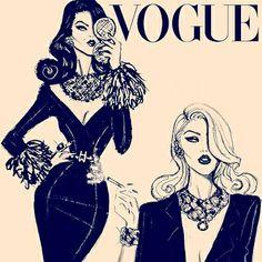 VOGUE Fashion Illustration by Hayden Williams!