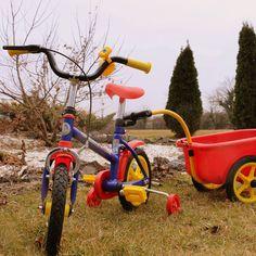 Bicicleta copii Yakari cu remorca