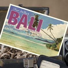 Vintage Postcard Save the Date (Bali)