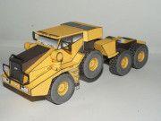 KFM-600 Heavy Duty Tractor Free Vehicle Paper Model Download