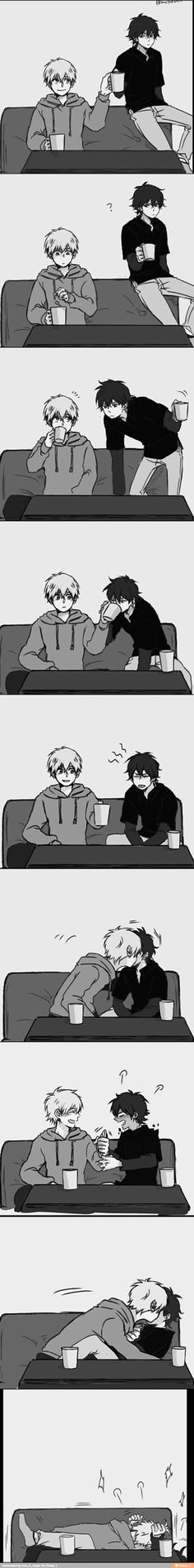 ayakane. Wooow I solangelo comic I haven't seen yet! They're adorable.