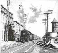 Old photo of train in Lebanon, Pa.