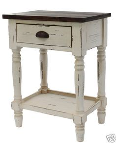 rustic white nightstand. Cute Bedside Table In Chalk Paint® By Annie Sloan Old White And Then Distressed. | Pinterest Paint, Rustic Nightstand