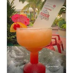 Sunrise Margarita Cocktail - For more delicious recipes and drinks, visit us here: www.tipsybartender.com
