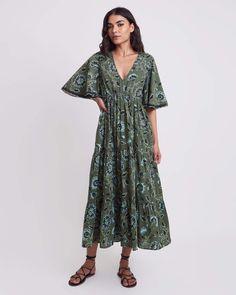 Sarina Dress - Kochi Army / M