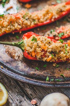 Vegan Couscous Stuffed Peppers are not only beautiful, but incredibly flavorful and delicious!