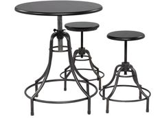 bistro table and stools, z gallerie