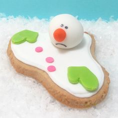melted snowman cookies 5 by thedecoratedcookie, via Flickr