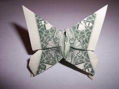 Dollar Bill Butterfly Ring