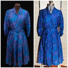 Vintage 1950s 1960's / Norman Wiatt / Swing Dress by CicelysCloset