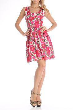 Devine Kinsey Printed Dress in Pink Floral -