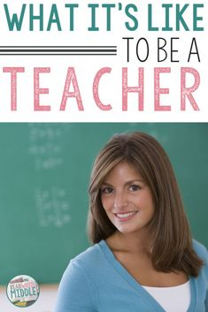Teachers have incredibly challenging yet extremely rewarding jobs. If you're a teacher, then you know this already! But our family and friends might not understand what it's like to be a teacher -- the demands, the meetings, the students, the challenges, the joys. I'm sharing all about what it's like to be a teacher in this blog post, so you can share it with loved ones who just don't get it! Click through to read this post. #elementaryschool #middleschool #highschool #teachertips #teachingtips Teacher Hacks, Teacher Pay Teachers, Future Classroom, Classroom Ideas, Middle School, Back To School, Parent Contact, Woman Standing, Student Gifts