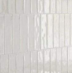 Skinny White Metro Tile is part of Bert & May's handmade glazed tile collection. Shop our range of quality tiles in plain or patterned styles, created using natural pigments. Metro Tiles Bathroom, Bath Tiles, Kitchen Tiles, Bathroom Shower Tiles, Barn Bathroom, Family Bathroom, Washroom, Kitchen Design, Bathroom Design Inspiration