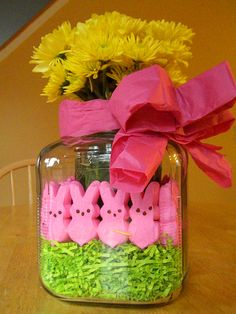 Easter Vase (will be hard to resist eating the peeps though)