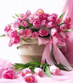 Another Day, Another Time Beautiful Rose Flowers, Beautiful Flower Arrangements, My Flower, Floral Arrangements, Beautiful Flowers, Birthday Wishes Flowers, Happy Birthday Flower, Pink Tulips, Pink Flowers