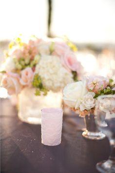 flowers in mint julep cups