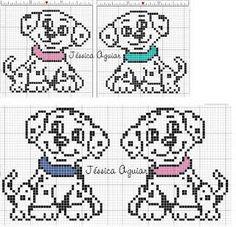 Resultado de imagen para cachorros em ponto cruz