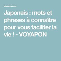 Japonais : mots et phrases à connaître pour vous faciliter la vie ! - VOYAPON