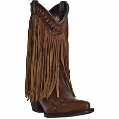 Dingo Heart Throb Russet Brown Ladies Boot w/ Fringe (M)